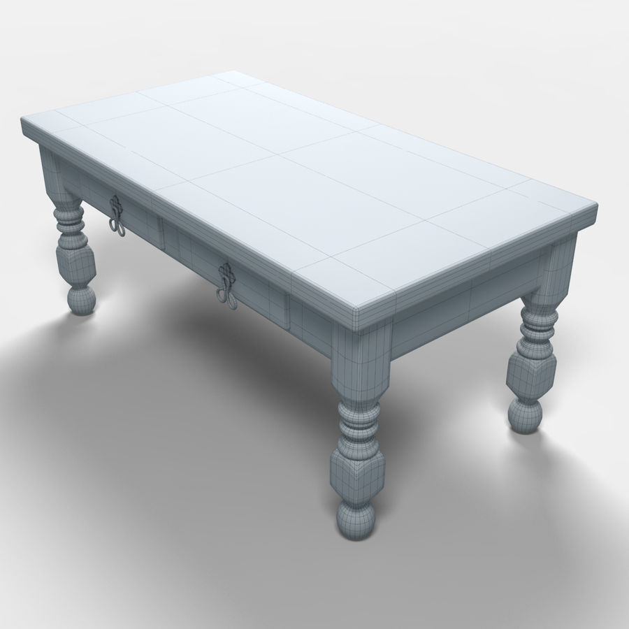 Cancun Coffee Table/Mesa de centro  Cancún royalty-free 3d model - Preview no. 8