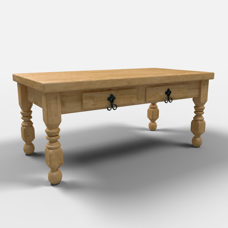 Cancun Coffee Table/Mesa de centro  Cancún royalty-free 3d model - Preview no. 1