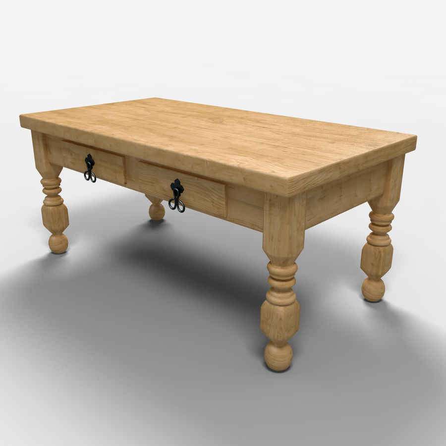 Cancun Coffee Table/Mesa de centro  Cancún royalty-free 3d model - Preview no. 5