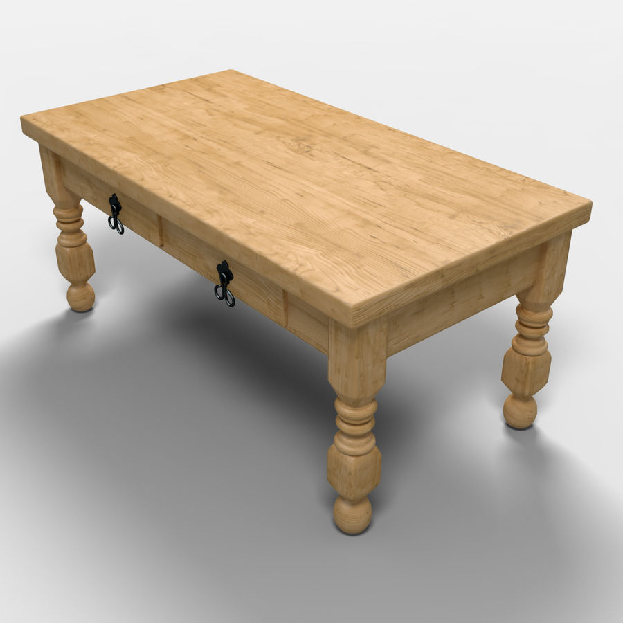 Cancun Coffee Table/Mesa de centro  Cancún royalty-free 3d model - Preview no. 7