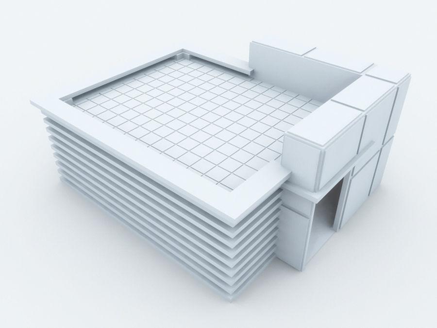 architectura (casinha de cachorro) royalty-free 3d model - Preview no. 3