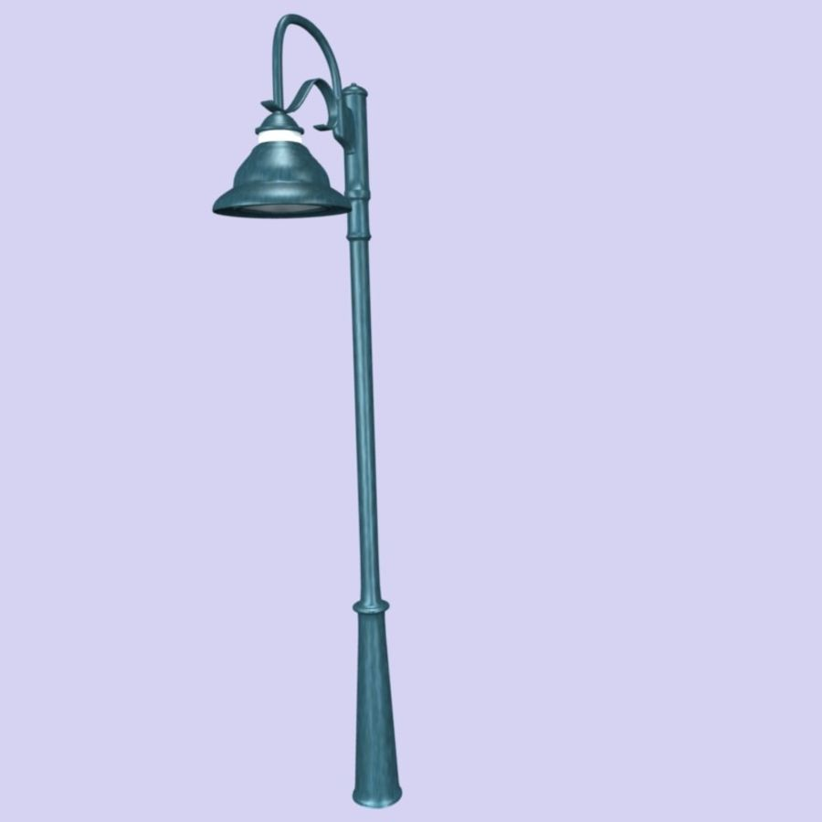 Floor Lamp royalty-free 3d model - Preview no. 2