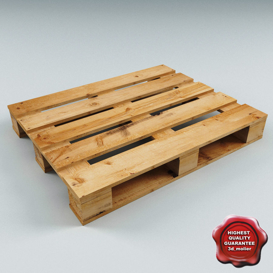 Wood Pallet royalty-free 3d model - Preview no. 1