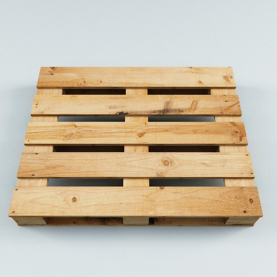 Wood Pallet royalty-free 3d model - Preview no. 4
