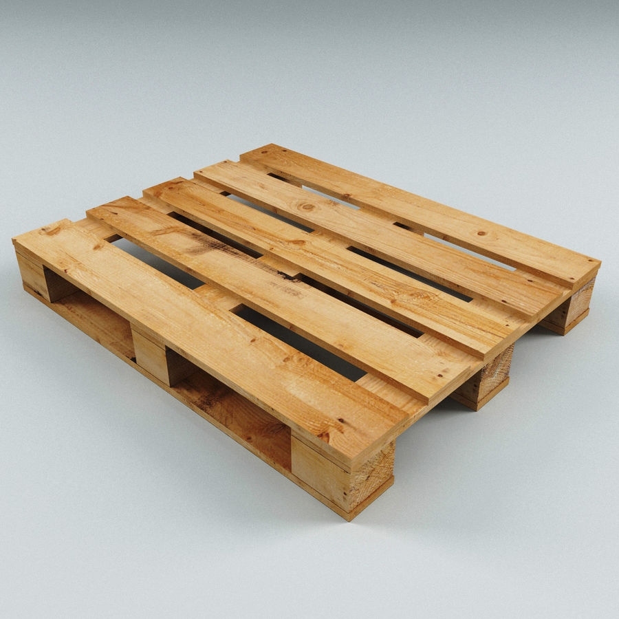 Wood Pallet royalty-free 3d model - Preview no. 6