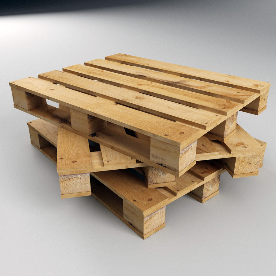 Wood Pallet royalty-free 3d model - Preview no. 3
