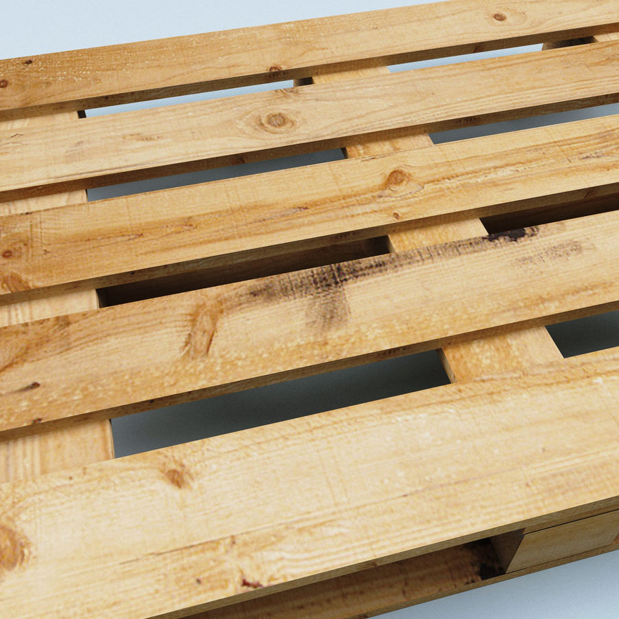 Wood Pallet royalty-free 3d model - Preview no. 7