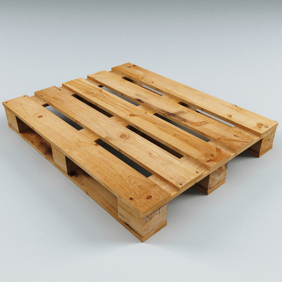 Wood Pallet royalty-free 3d model - Preview no. 5