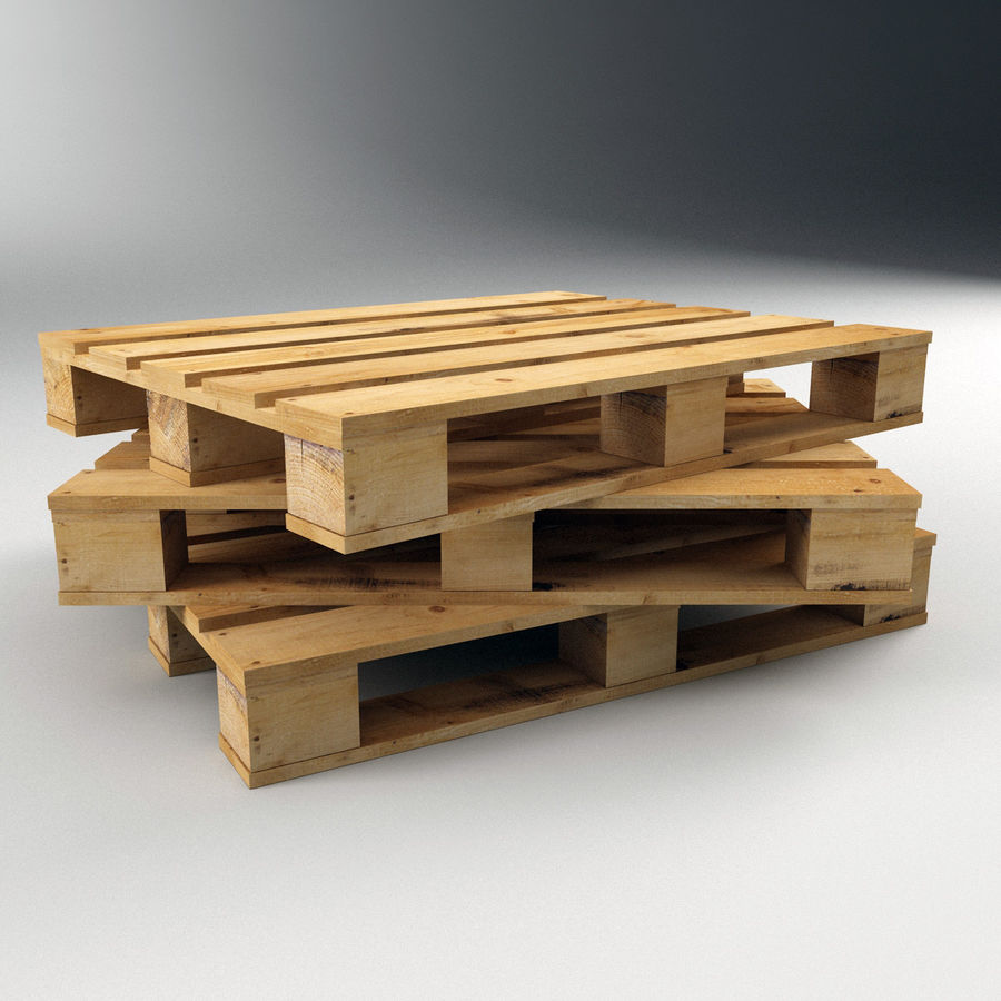 Wood Pallet royalty-free 3d model - Preview no. 2