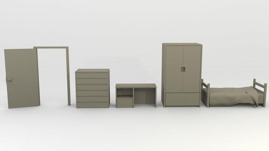 シンプルな家具 royalty-free 3d model - Preview no. 1