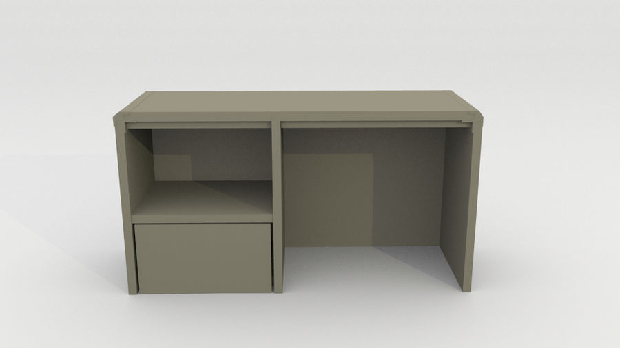 simple furniture royalty-free 3d model - Preview no. 3