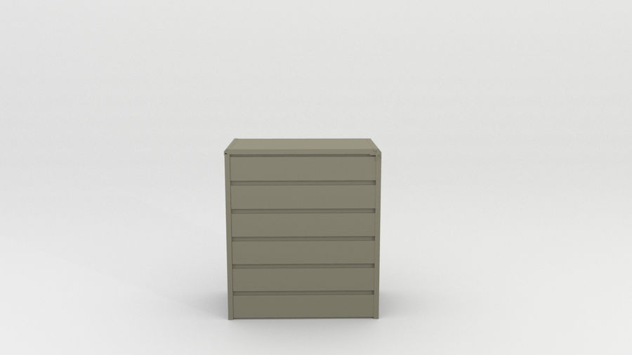 simple furniture royalty-free 3d model - Preview no. 5