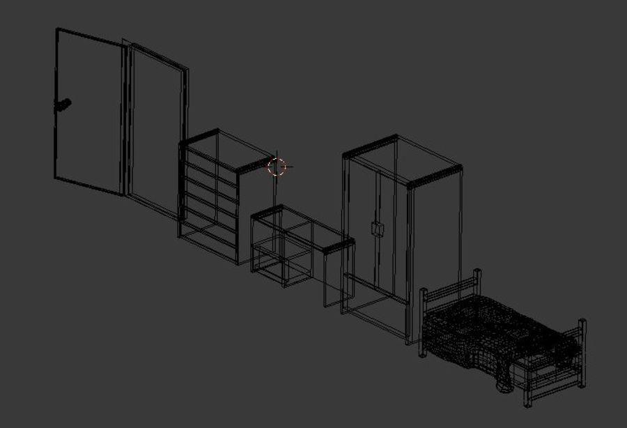 シンプルな家具 royalty-free 3d model - Preview no. 7