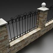 forging fence 3d model