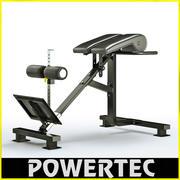 Powertec P-HC10 dual hyperextension crunch 3d model
