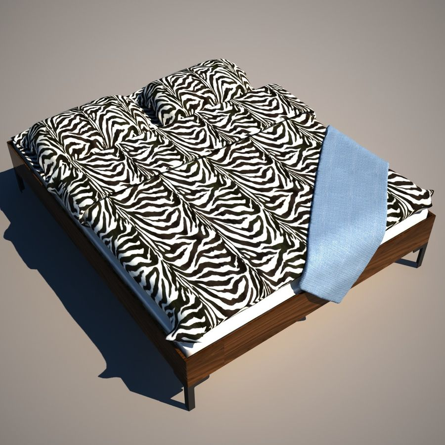 Ikea Engan Bed royalty-free 3d model - Preview no. 4