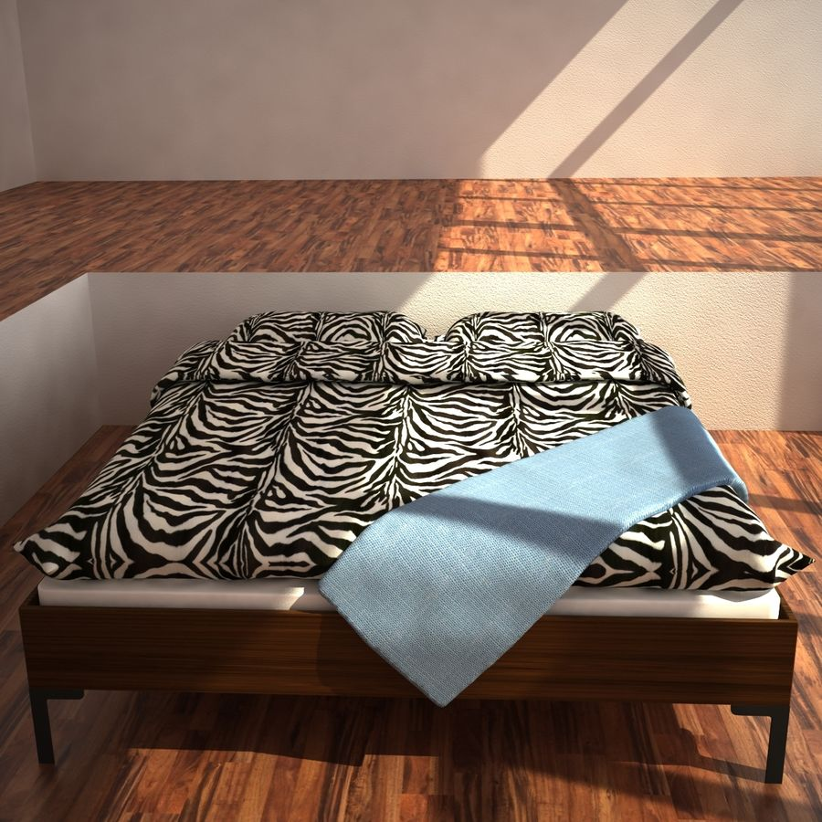 Ikea Engan Bed royalty-free 3d model - Preview no. 3