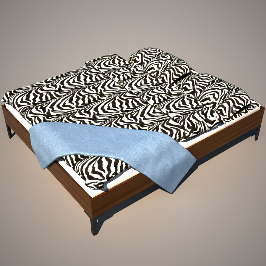 Ikea Engan Bed royalty-free 3d model - Preview no. 7