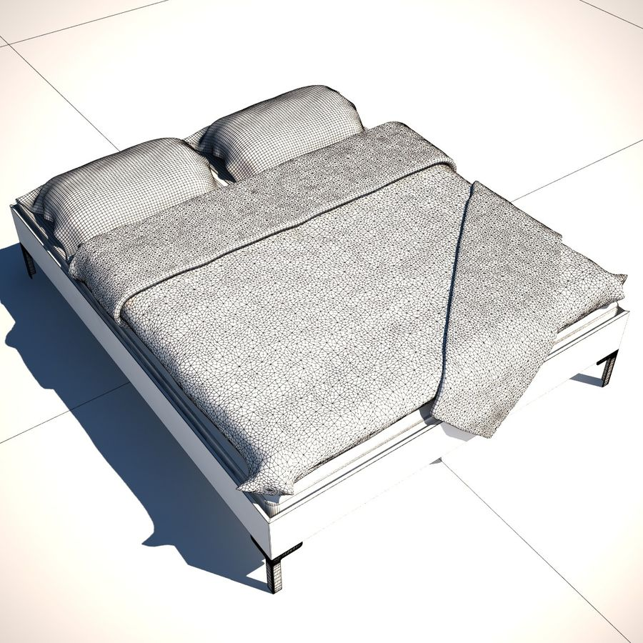Ikea Engan Bed royalty-free 3d model - Preview no. 8