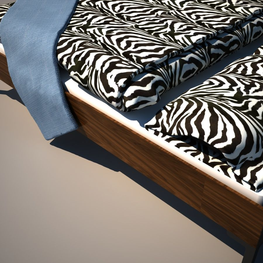 Ikea Engan Bed royalty-free 3d model - Preview no. 5