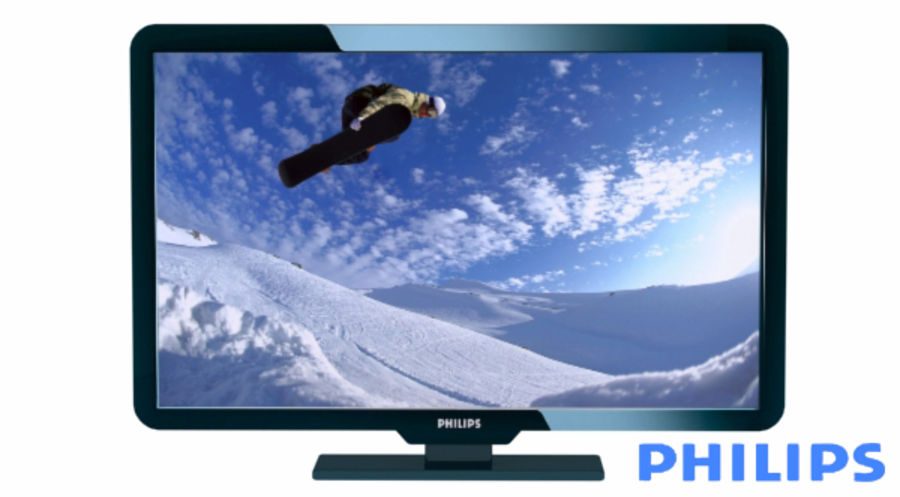 Philips LCD TV royalty-free 3d model - Preview no. 1