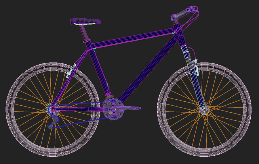 Mountain Bike - IN SALE !!! royalty-free 3d model - Preview no. 4