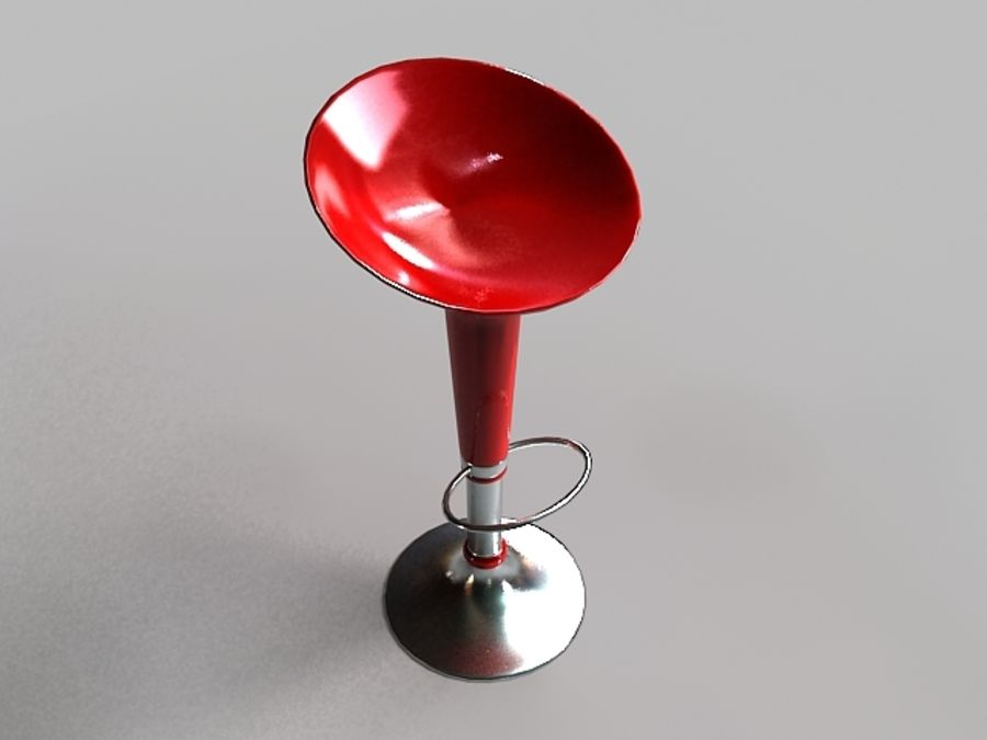 Tabouret De Bar royalty-free 3d model - Preview no. 2