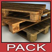 Wood Pallet pack 3d model