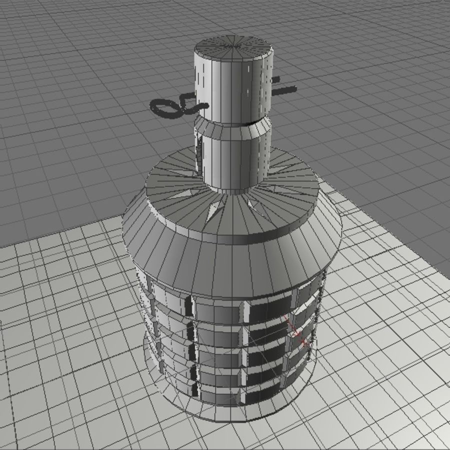 type 97 Grenade royalty-free 3d model - Preview no. 6