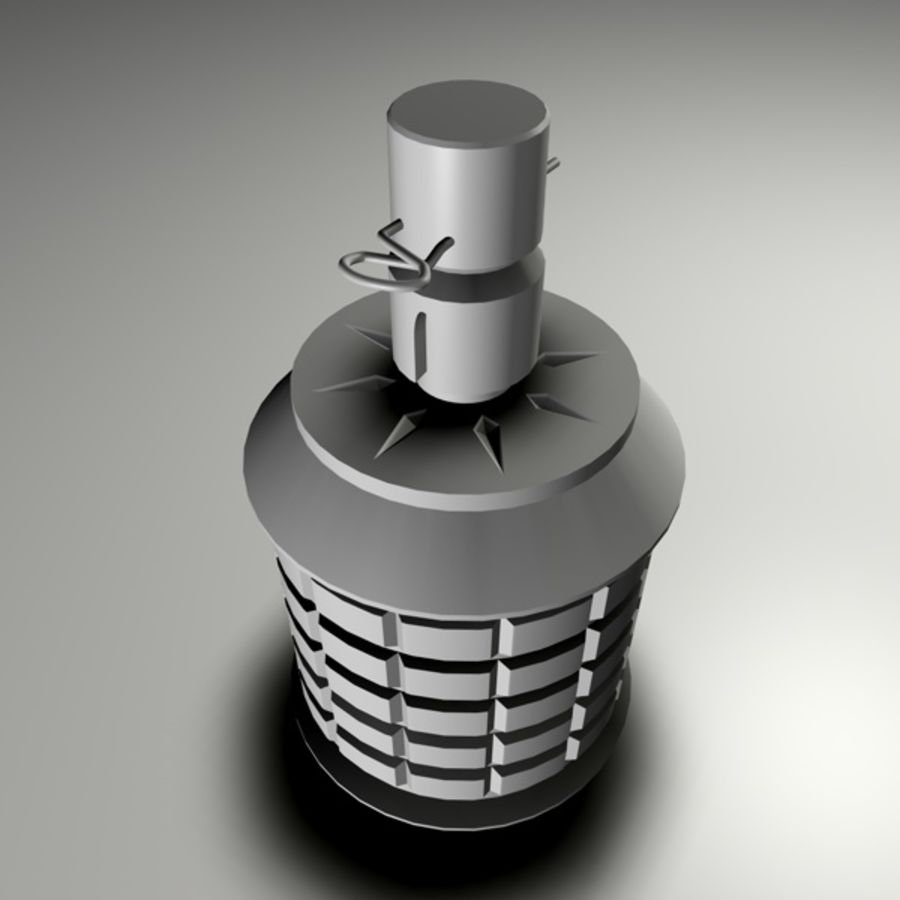type 97 Grenade royalty-free 3d model - Preview no. 5