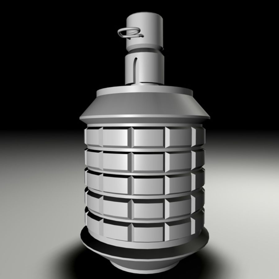 type 97 Grenade royalty-free 3d model - Preview no. 4