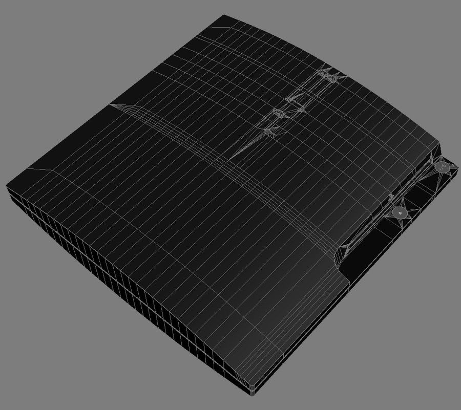 Sony PlayStation 3 Slim 320 royalty-free 3d model - Preview no. 9