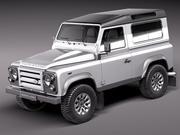 Land Rover Defender 2011 x-tech short 3d model