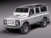 Land Rover Defender 2011 x-tech Long 3d model