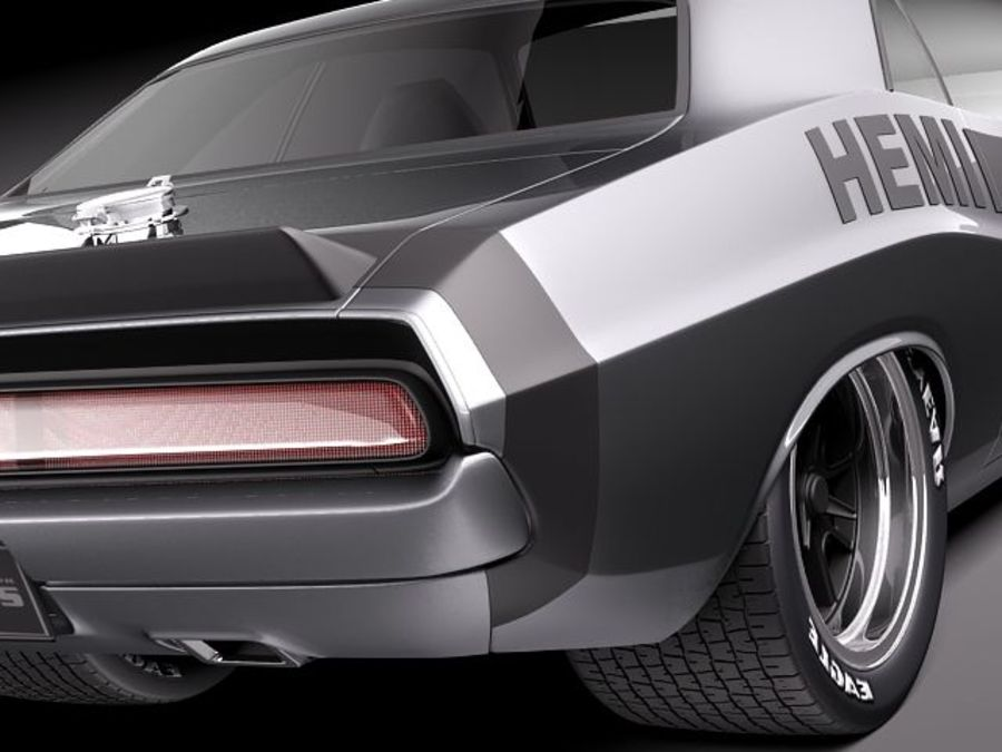 Dodge Challenger 1970 Custom royalty-free 3d model - Preview no. 4