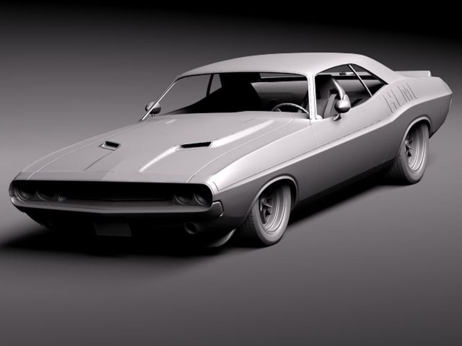 Dodge Challenger 1970 Custom royalty-free 3d model - Preview no. 12