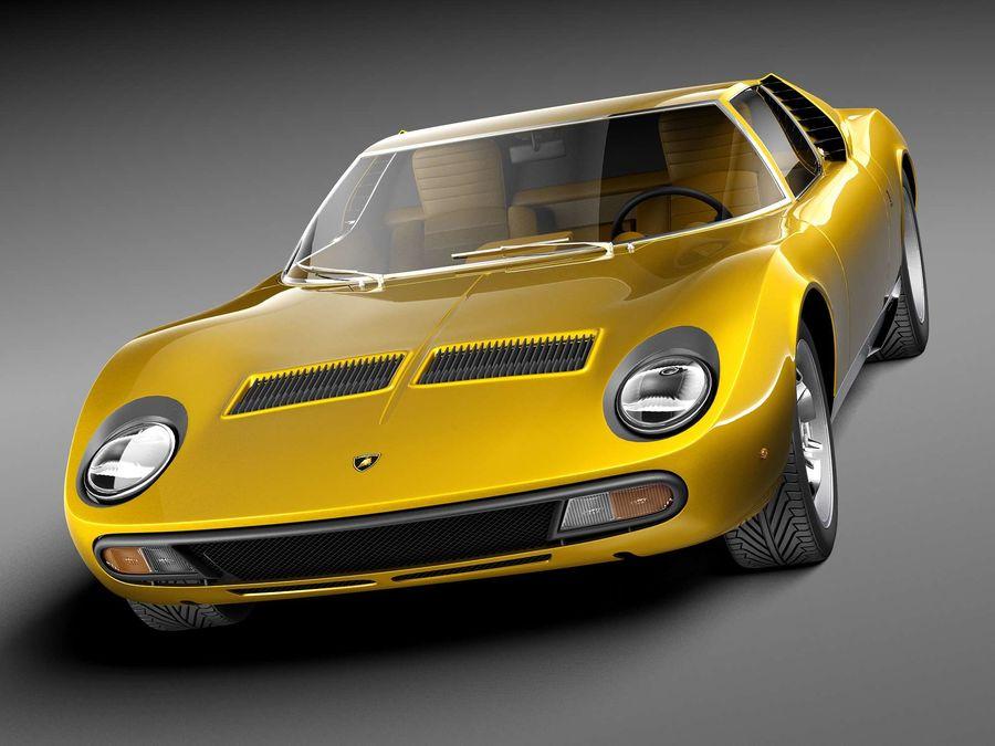 Lamborghini miura P400 SV 1971 royalty-free 3d model - Preview no. 2