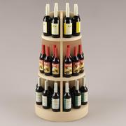 Bottles & shelf_03 3d model