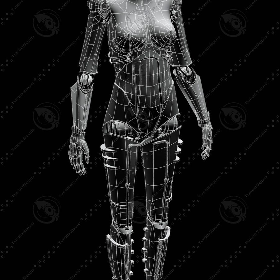 Metropolis Style Robot royalty-free 3d model - Preview no. 3