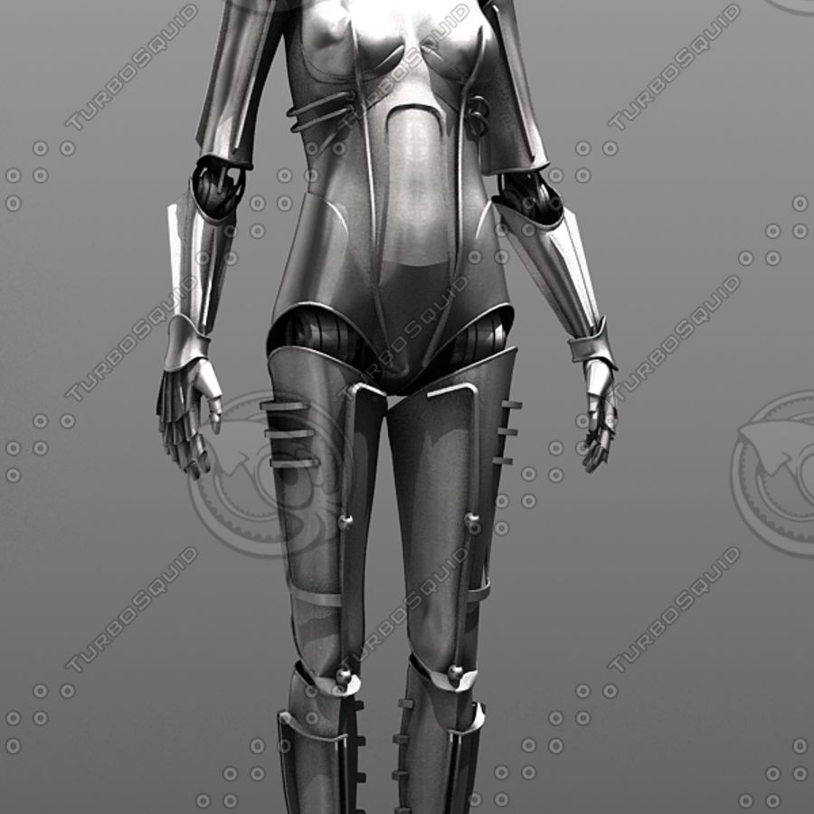 Metropolis Style Robot royalty-free 3d model - Preview no. 1