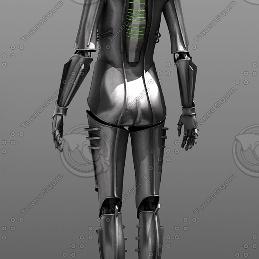 Metropolis Style Robot royalty-free 3d model - Preview no. 2