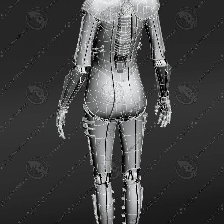 Metropolis Style Robot royalty-free 3d model - Preview no. 4