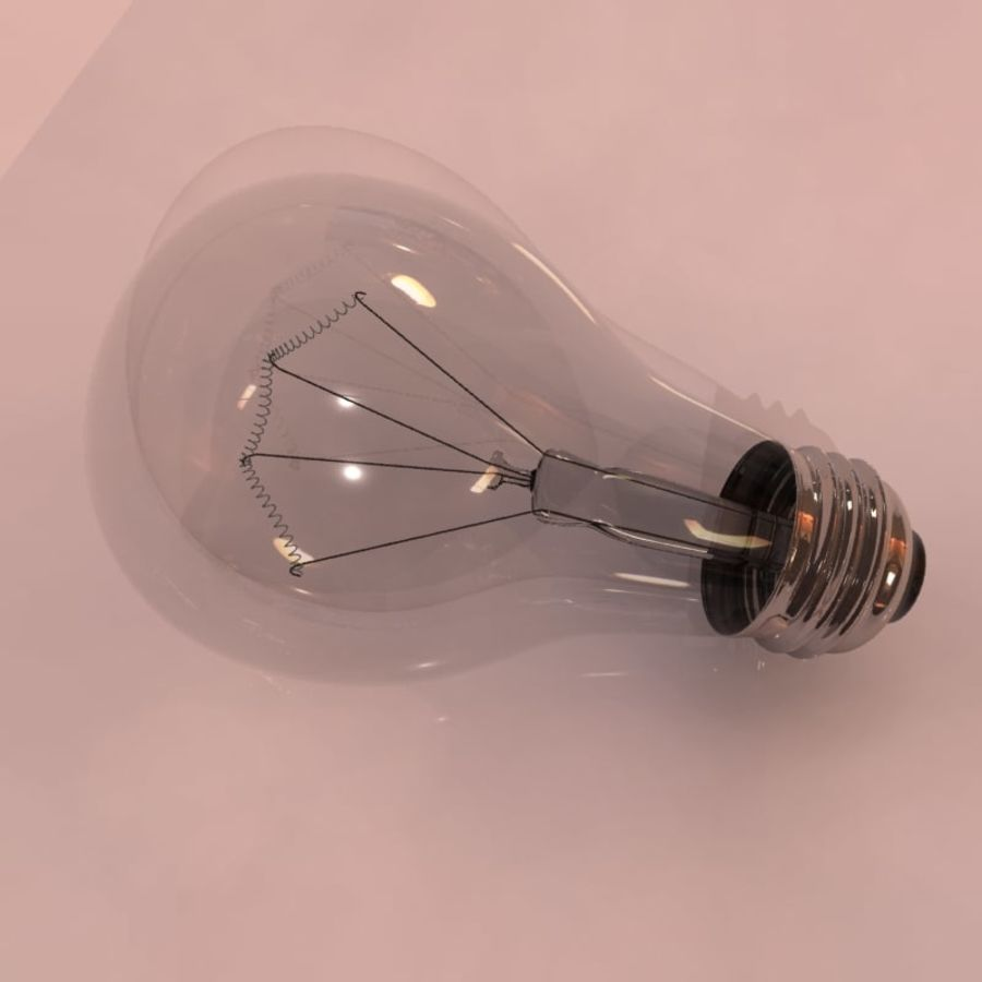 Light Bulb royalty-free 3d model - Preview no. 7