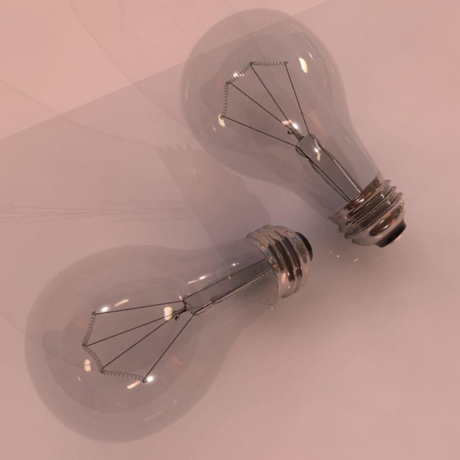 Light Bulb royalty-free 3d model - Preview no. 2