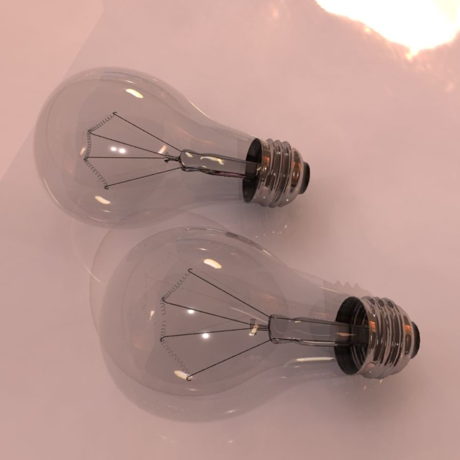 Light Bulb royalty-free 3d model - Preview no. 8