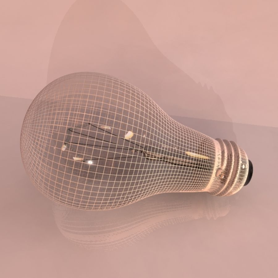 Light Bulb royalty-free 3d model - Preview no. 3
