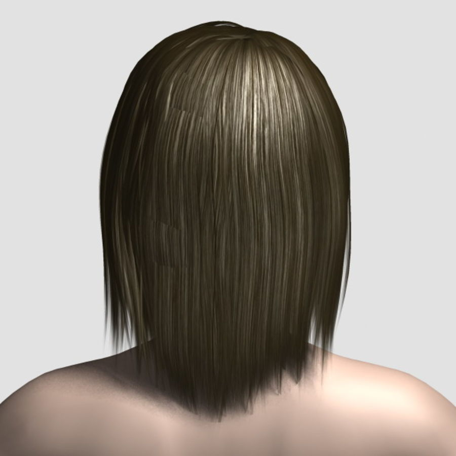 Hair_Mesh_11 royalty-free 3d model - Preview no. 3