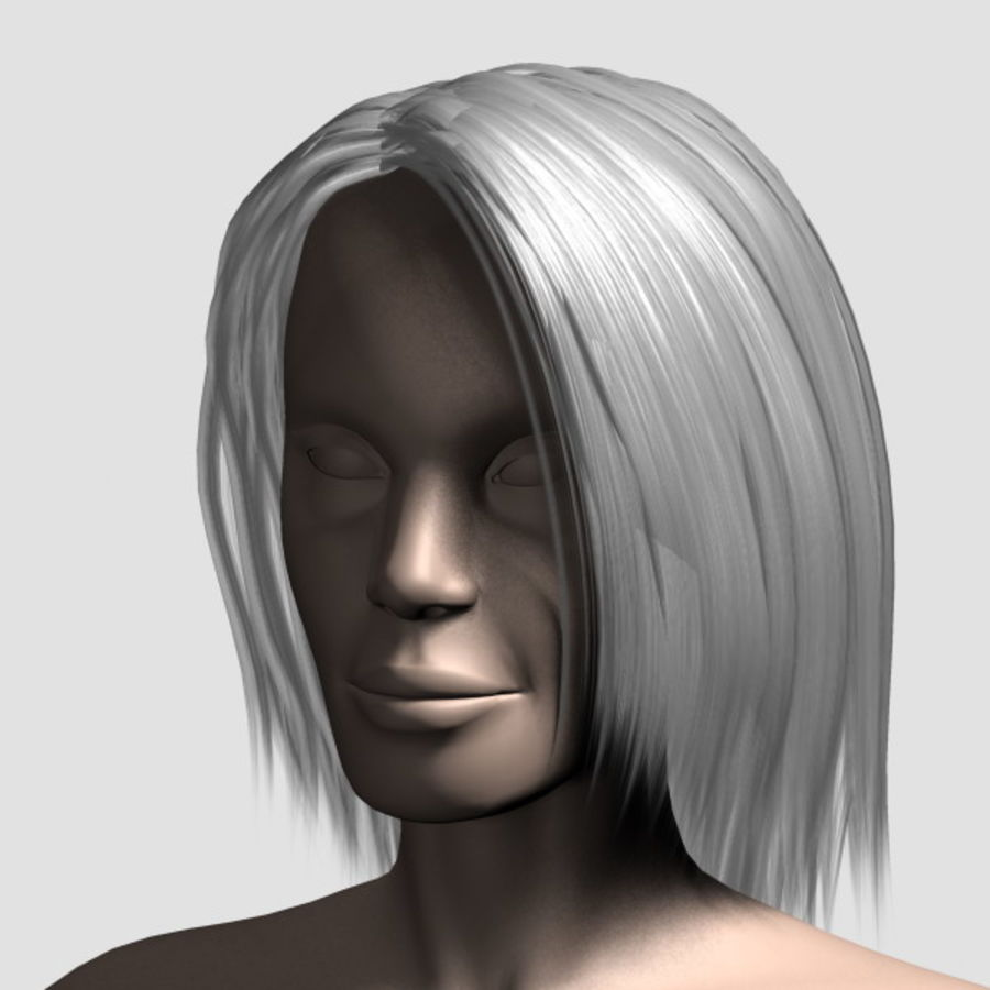 Hair_Mesh_11 royalty-free 3d model - Preview no. 13
