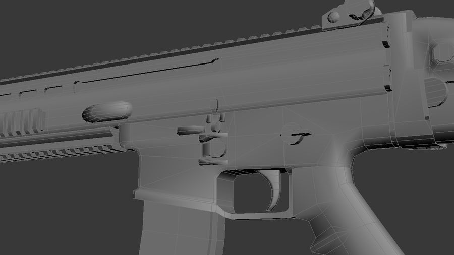 SCAR L DIY kit royalty-free 3d model - Preview no. 7
