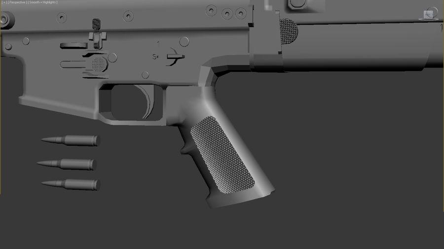 SCAR L DIY kit royalty-free 3d model - Preview no. 12